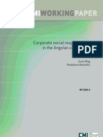 1990 Corporate Social Responsibility in the Angolan Oil