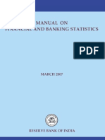 Manual on Banking Financial Statistics By RBI