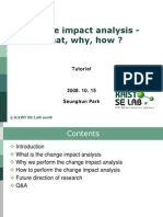 29.Change Impact Analysis - What, Why, How
