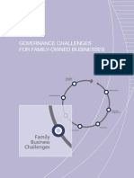Governance Challenges in Family Owned Businesses