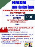 SEMESTRE 2011 - I -  PROYECTO - SEMANA Nº 8