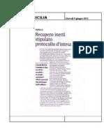 09.06.2011 - Recupero Inerti Stipulato Protocol Lo d' Intesa