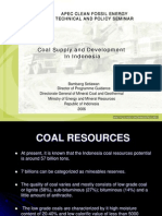Coal Supply in Indonesia