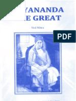 Dayananda the Great - English Book