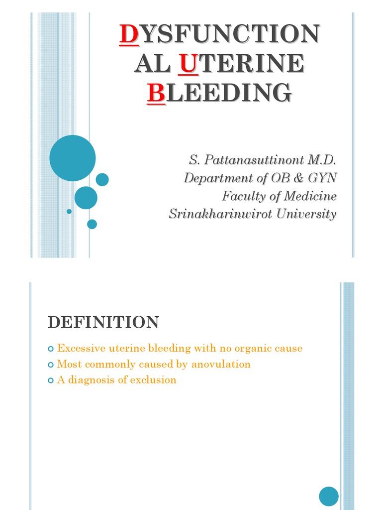 Dysfunctional Uterine Bleeding-Sumate   Menstrual Cycle ...