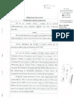 112-03-Valco Turendo set- Giudice BUFO - Avv Borsellino D - CONCLUSIONALE - Revoca contratto affitto azienda