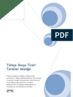 Türkçe-Rusça Ticari Terimler Sözlüğü