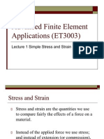 Lecture 1 Stress and Strain