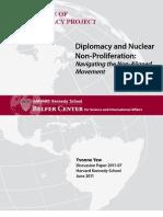 Diplomacy and Nonproliferation