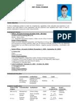 CV of Faisal Shariar