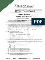 IIT-JEE Prerna Classes 2011 Phy-II Solutions 2