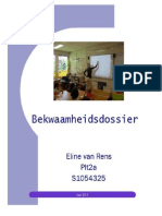 Bekwaamheidsdossier Eline Van Rens, s1054325