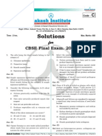 Akash Aipmt Final 2011 solution