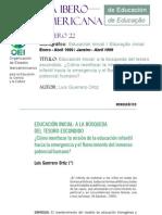 Luis Guerrero Ortiz - Educación Inicial, a la búsqueda del tesoro escondido - Cómo reenfocar la misión de la educación infantil hacia la emergencia y el florecimiento del inmenso potencial humano