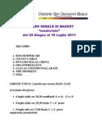 Programma Torneo Basket