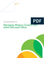 Managing Alfresco Content From Within MS Office Community Edition 3 3