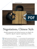 Neidel (2010) Chinese Negotiations