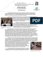TRAIL Grantee Training Summary 2010