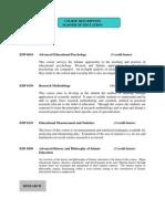 Course Description Masters