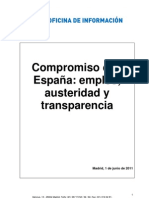 Plan de Austeridad PP tras 22M 2011 Empleo - Austeridad - Transparencia