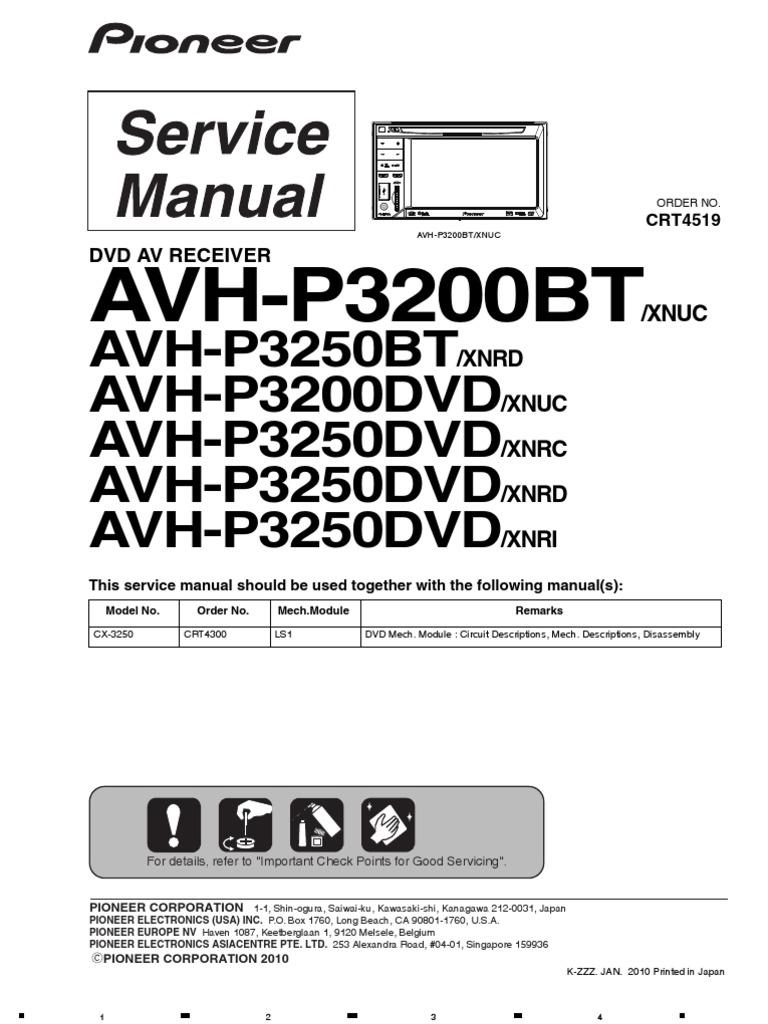 Pioneer Avh P3250dvd Wiring Diagram 35 Images Avic Z3 1508384451 Service Man P3200bt P3250bt Laser Mp3 P3200dvd At Highcare