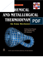 Chemical and Metallurgical Thermodynamics