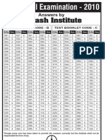 aipmt 2010 Final Exam  solution by aakash