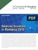 Raportul Studiului Balanced Scorecard in Romania 2010