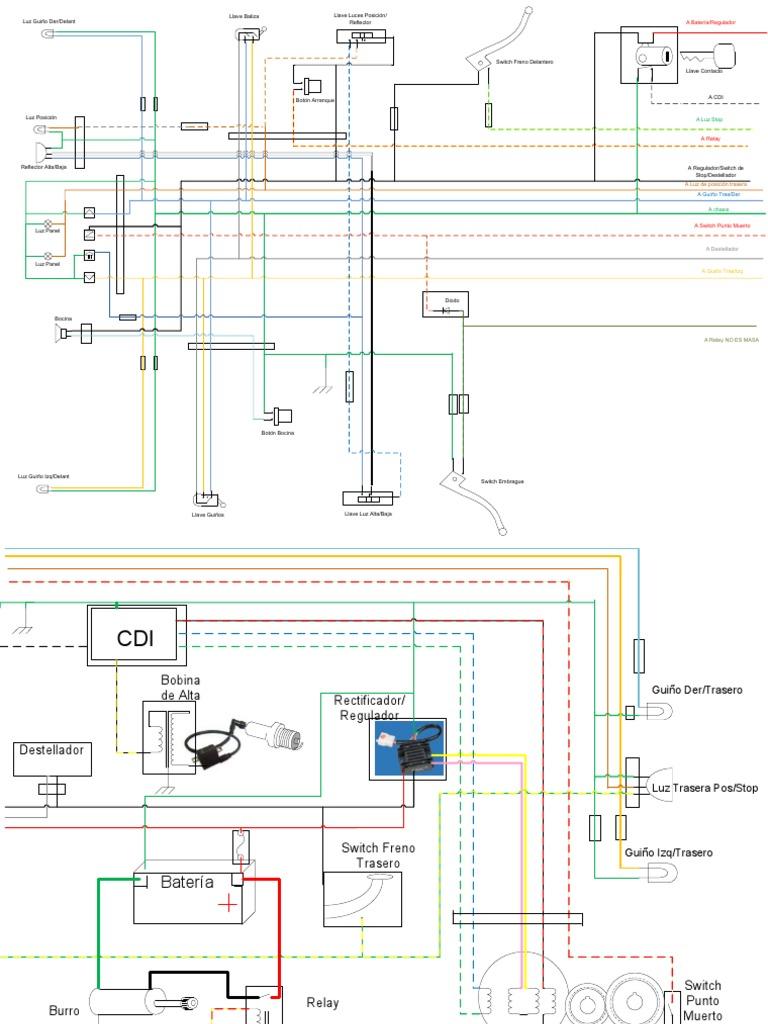 diagrama el u00e9ctrico motomel cg 125