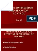 Inmate Supervision and Behavior Control
