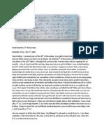 Letter of John A. Bell, 125th Ohio, December 3rd, 1864