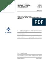 NTC 1103-2 Tomate de Mesa. Especificaciones Del Empaque