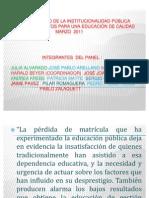 exposición propuestasdel panel de expertos a la nueva institucionalidad
