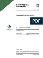 NTC 1239 Helados y Mezclas Para Helados