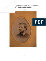 The Civil War Letters of Edward G Stevens 72nd Illinois Infantry
