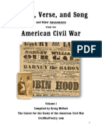 Poetry, Verse and Song - and other amusements - from the American Civil War