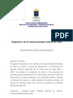 Diagnostico de La Institucionalidad Cultural en Chile Felipe Espinosa Parra