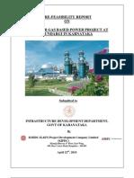Pre Feasibility Study Mundargi Gas Based Power Plant