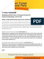 WFL Launch Press Release - 23.06.11