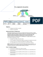 Creación de VLAN y asignación de puertos