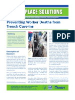 Preventing Worker Deaths from Trench Cave-ins