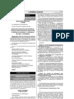 Decreto Supremo 051-2001 PCM sobre Reparaciones Económicas a Víctimas