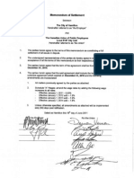 Draft Memorandum of Settlement 2011