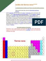 Minerales de Tierras Raras