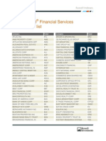 Russell 1000 Financial Services Membership List