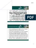 Michael Moore Supplemental Presentation on Summit Power's Texas Clean Energy Project