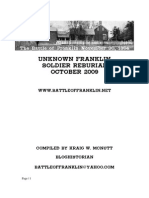 The Unknown Franklin Civil War Soldier Reburial, October 2009