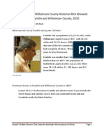 An Interview with Williamson County Historian Rick Warwick, 2010