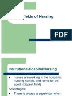 Fields of Nursing
