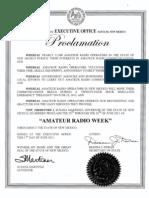 Amateur Radio Week Proc